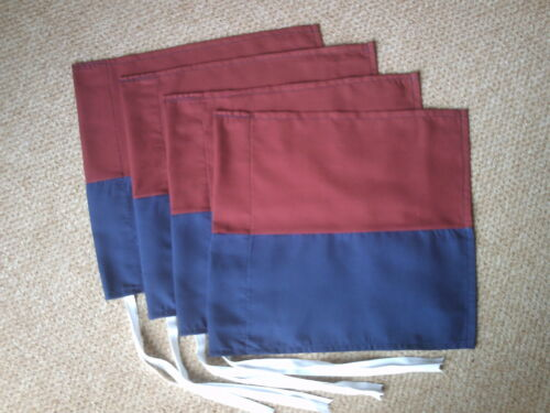 QUALITY FLAGS . 4  NAVY AND MAROON CORNER FLAGS