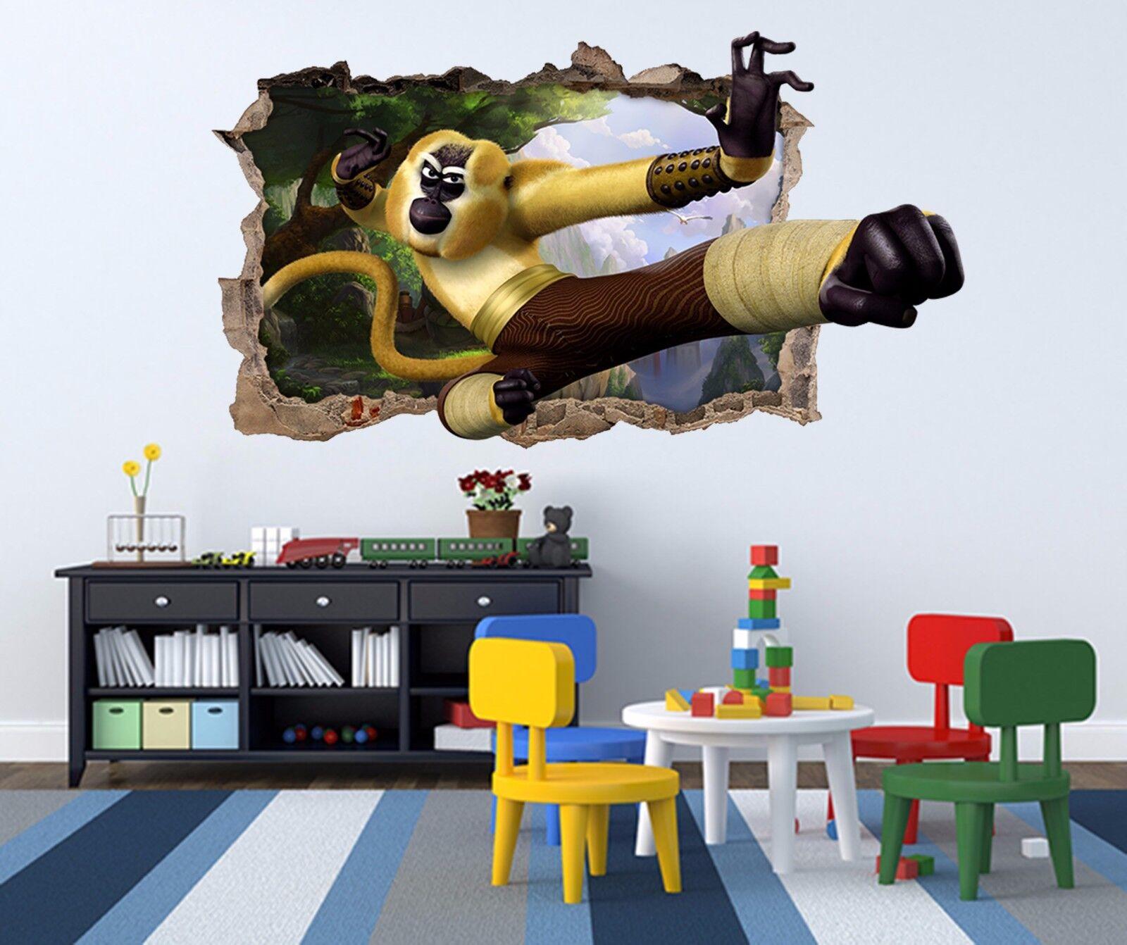 3D Baum Affe König9 Mauer Murals Mauer Aufklebe Decal Durchbruch AJ WALL DE Kyra
