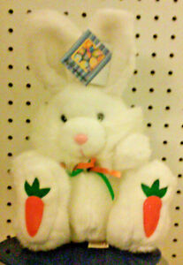 WHITE-PLUSH-BUNNY-DAN-DEE-COLLECTORS-CHOICE-VERY-SOFT-11-034-HIGH-EASTER