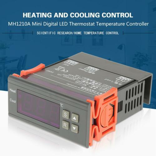 Digital LCD Temperature Controller Thermostat MH1210A 40~120℃ with Sensor Probe