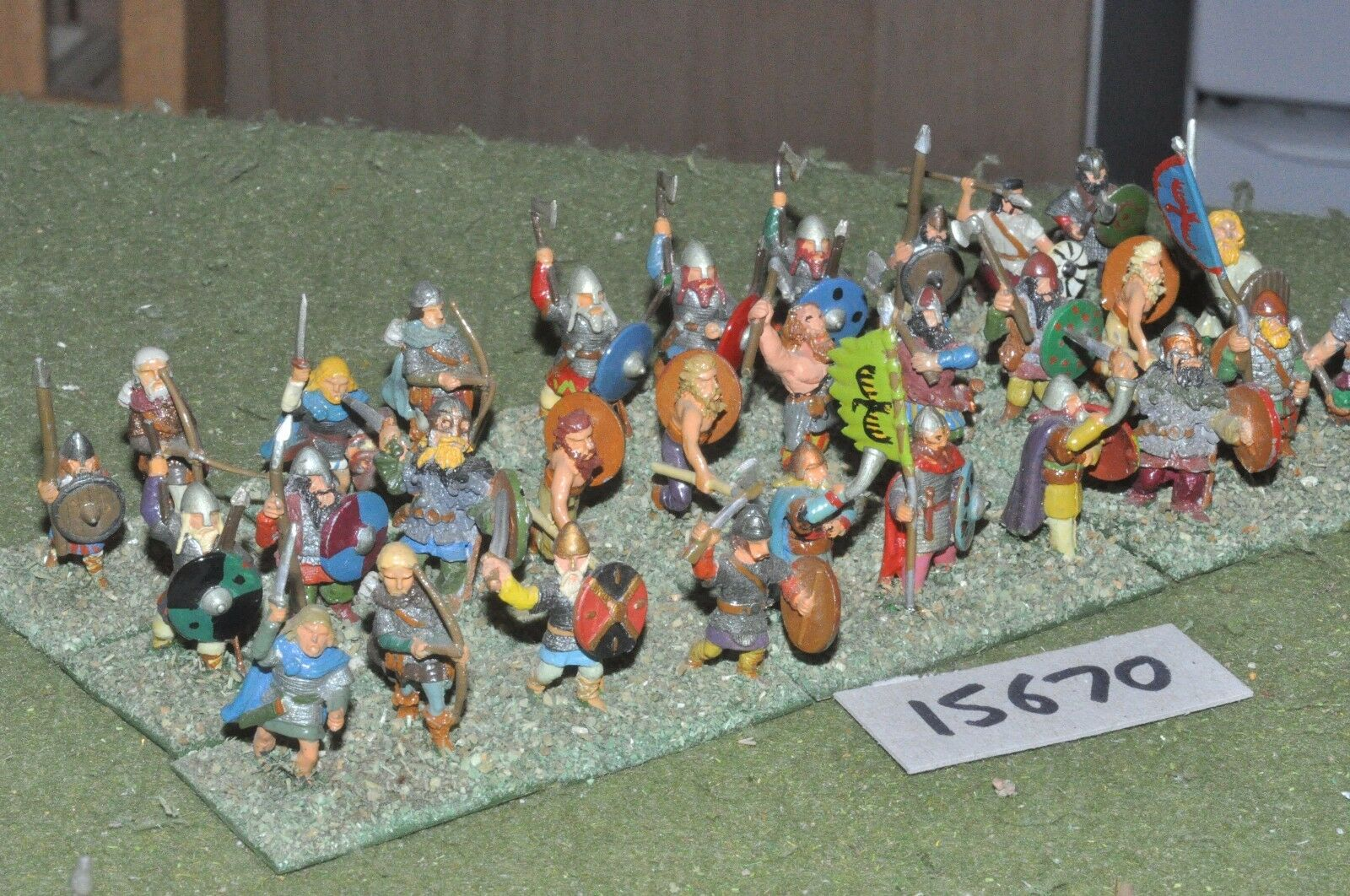 25mm dark ages   viking - warband 30 figs - inf (15670)