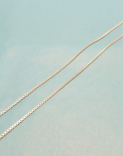 """Beautiful Italian Sterling Silver Box Link Chain Necklace 16/"""" 20 Inch 925 Italy"""