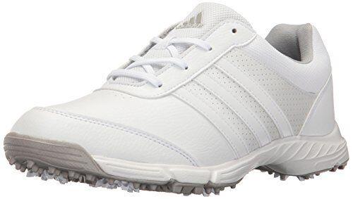 adidas W Tech Response Golf Shoes Cleats Women's 10 White Silver Q44708