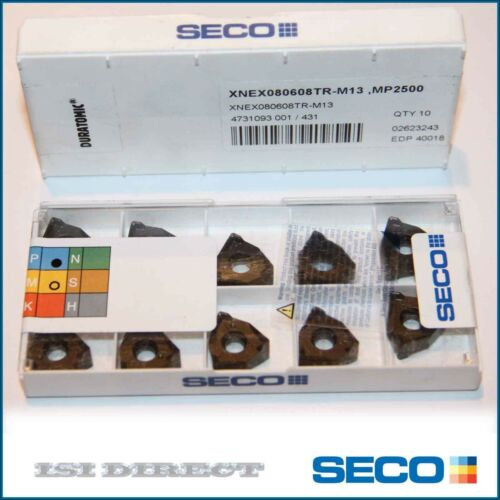 SALE XNEX 080608TR M13 MP2500 SECO 10 INSERTS FACTORY PACK
