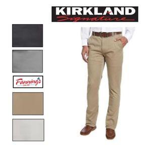 SALE-Kirkland-Signature-Men-039-s-Standard-Fit-Straight-Leg-Chino-Pants-VARIETY-F53