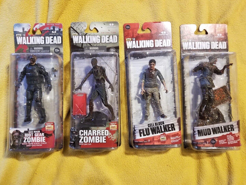 MCFARLANE  giocattoli WALre DEAD WALKER LOT 4 cifraS  scelte con prezzo basso