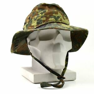 3fb54f49805 Image is loading Genuine-ORIGINAL-GERMAN-ARMY-BOONIE-HAT-Flecktarn-field-