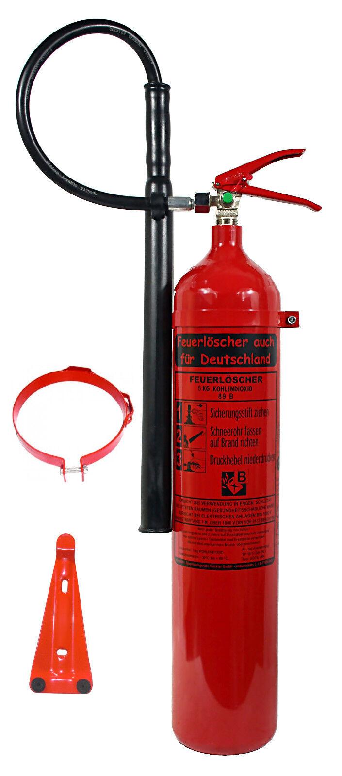 NEU OVP 5 kg CO2 Kohlendioxid Feuerlöscher DIN EN 3   GS + Wandhalter EDV BÜRO