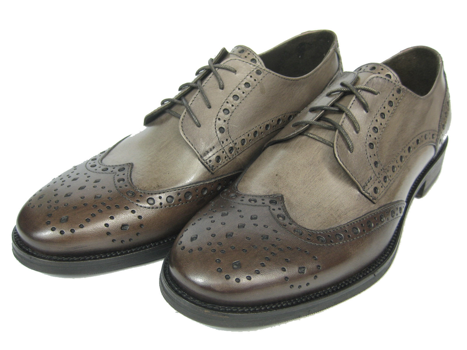 GIORGIO SCARPE Derby & Budapester Leder Schuh GM13 Handgenäht mokka & Derby hell braun 682d10