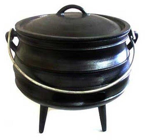 Cast iron Cauldron Potjie pot Sz 10 Outdoor Survival 7.5 gal Kettle Campfire
