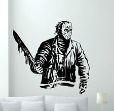Jason Voorhees Wall Decal Horror Movies Vinyl Sticker Film Art Decor Mural 87zzz