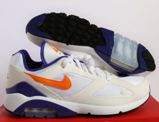uk availability 46c97 6ce30 NIKE AIR MAX 180 OG WHITE-BRIGHT CERAMIC-DARK CONCORD SZ 9.5 615287