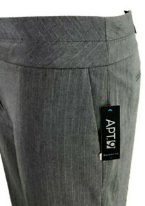 Apt. 9 Gray Pinstripe Career Dress Pants Maxwell Modern ...