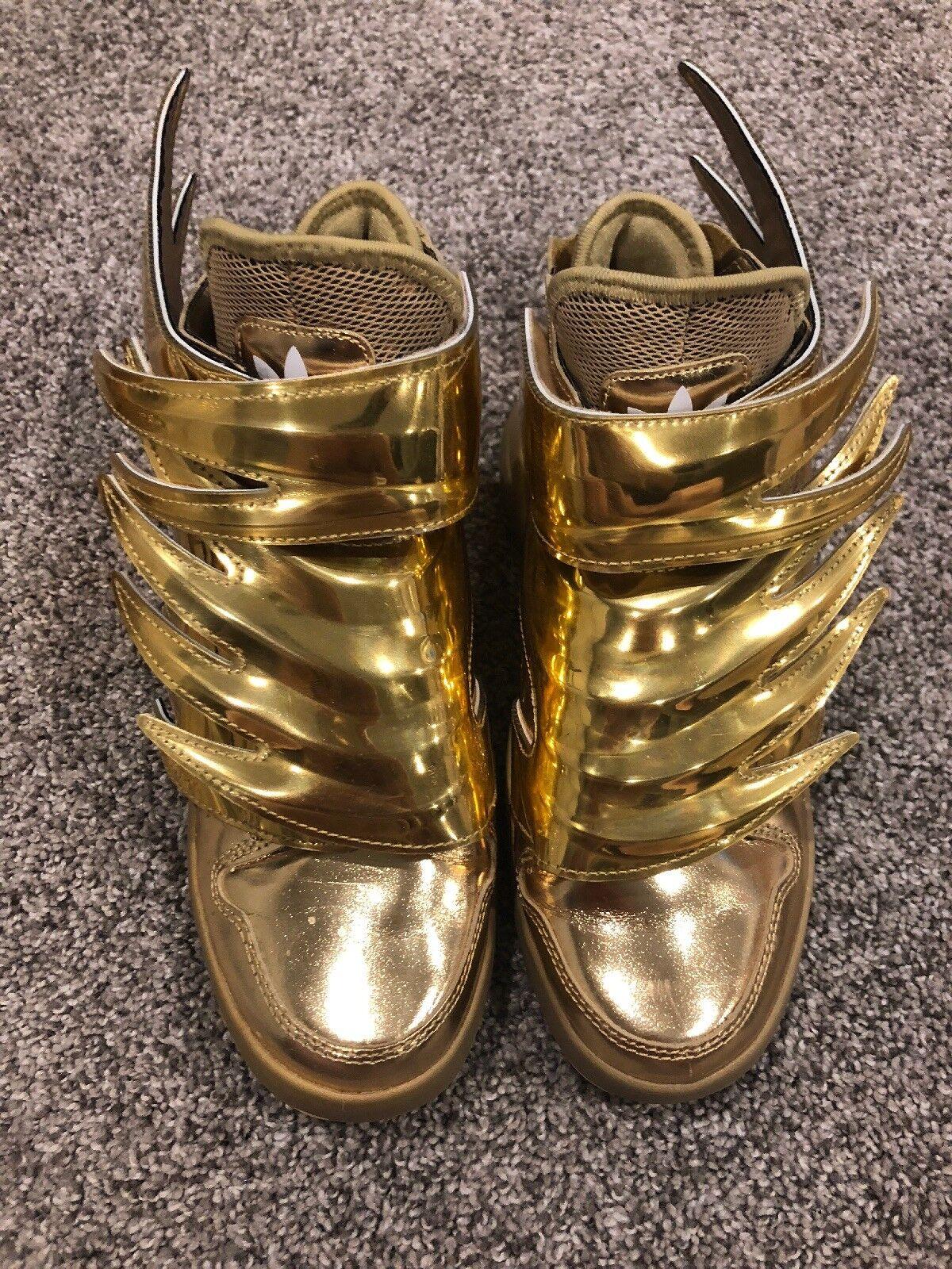 Adidas Jeremy Scott gold Wings 3.0, Size 5, RARE