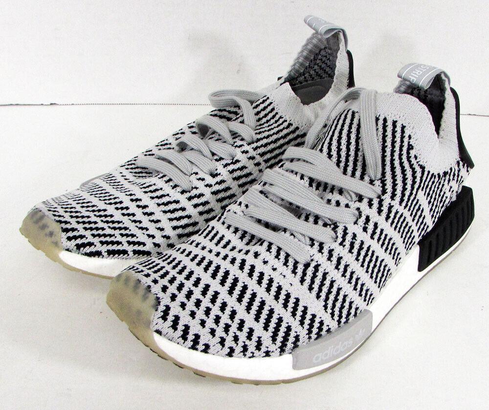 170  Adidas Hombre Nmd R1 Primeknit Zapatillas, gris gris Negro, US 9