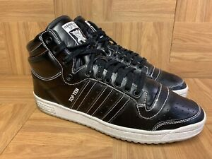 RARE-Adidas-Top-Ten-Black-Leather-Stitched-Basketball-Shoes-Sz-11-Men-039-s-2015