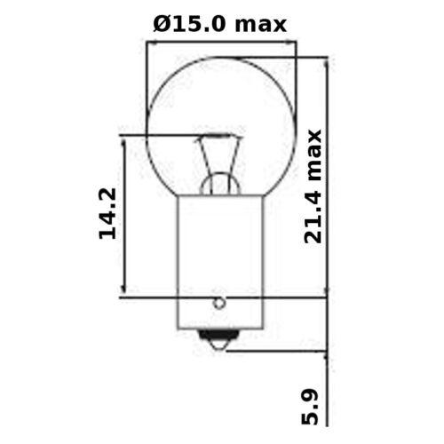 BULB 6V 6W BA9S FORD OPEL AUDI VOLKSWAGEN JAGUAR PEUGEOT RENAULT LIGHT LAMP