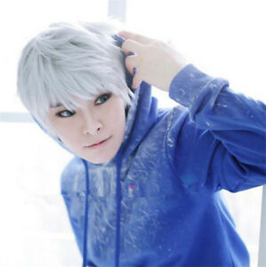 Anime Rise Of The Guardian Cosplay Jack Frost Short Silver White Wig