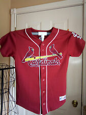 Majestic St Louis Cardinals Eckstein #22 Baseball Jersey sz Youth Large SEWN