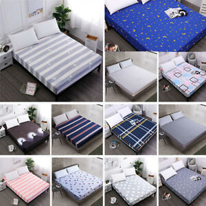 Waterproof-Bed-Sheet-Floral-Printed-Bedding-Mattress-Pad-Protector-Cover-6-Size