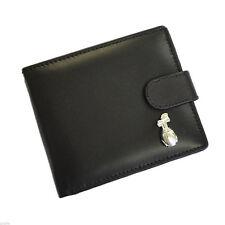 Black Leather Wallet with Silver Golf Bag Design Golf Wallet