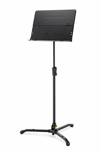 Hercules BS301B Foldable Music Stand with Page Retainers