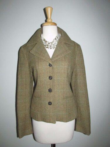 Chaps Jacket Blazer Uld Størrelse Green Herringbone Olive Tweed M Blend qAz8wq