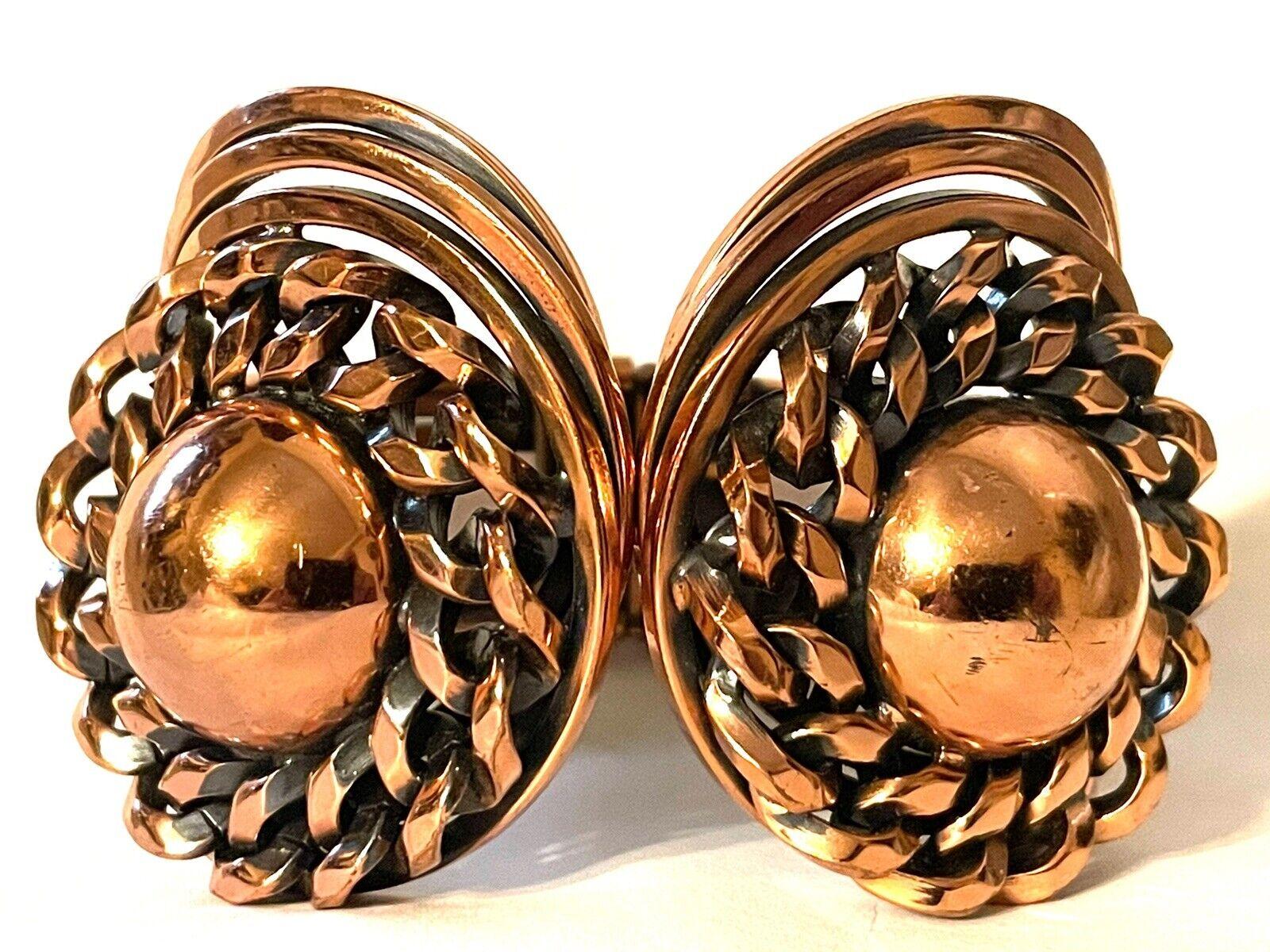 Vintage Mid Century Modern Copper Clamper Bracele… - image 1