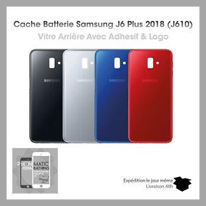 VITRE-ARRIERE-CACHE-BATTERIE-POUR-SAMSUNG-GALAXY-J6-J610-LOGO-ADHESIF