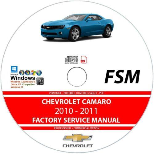 Chevrolet Camaro 2010 2011 Service Repair Manual on CD