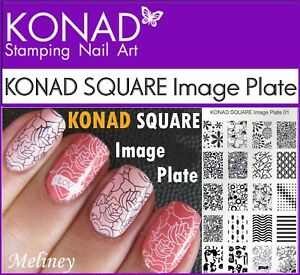 KONAD-SQUARE-Image-Plates-for-Stamping-Nail-Art-Designs-1-2-3-4-6-7-8-9-10-21