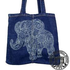 01. Jeans Denim Tote Bag Marionelli Mandala Elefant Tasche  Beutel / Stofftasche