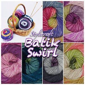 Stylecraft-BATIK-SWIRL-DK-200g-Acrylic-Wool-Knitting-yarn-Cake