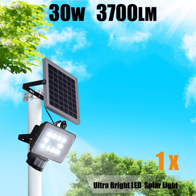 30W 64 LED Solar Sensor Light  Motion Detection Garden Flood light street lamp