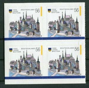 4-x-Bund-2245-Viererblock-VB-SK-sauber-postfrisch-BRD-2002-Selbstklebende-MNH