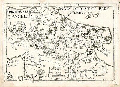 Maratea Sulla Cartina Geografica.Carta Geografica Originale 1712 Vasto Trani Termoli Vieste Foggia Montecalerio Ebay