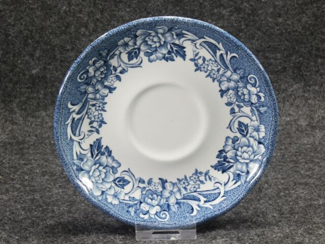 J & G Meakin Royal Staffordshire STRATFORD STAGE Blue Ironstone Saucer 5 7/8