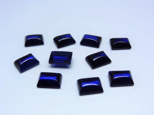 Blue Sapphire 8x6mm Baguette Cabochon Cut Shape Loose Stones Corundum Gemstones
