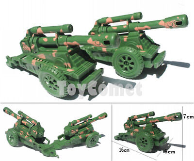 2 pcs Military Tanks Rotating Turret 9cm Toy Soldier Army Men Accessories