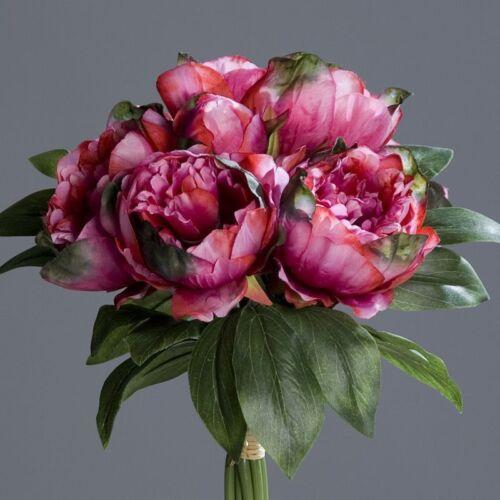 Pfingstrosenbund mit 8 Blüten 36cm fuchsia DP Kunstlbumen künstliche Pfingstrose
