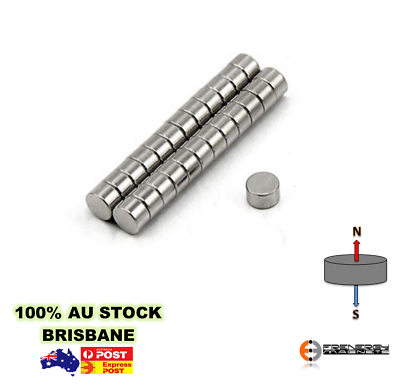 100pc Super N40 5mm x 3mm Neodymium Disc Magnet Warhammer Fridge Craft Jewellery