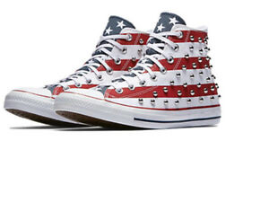 Image is loading Converse-Chuck-Taylor-All-Star-Studded-Americana-High- 769a78c73