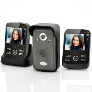 Wireless-Video-Door-Phone-2X-3-5-Inch-Monitors-Photo-And-Video-Function-NEW