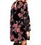 AU-seller-Black-vintage-chic-hippie-floral-velvet-v-neck-long-blouse-mini-dress thumbnail 2
