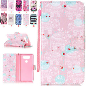 Magnetic-Painted-Leather-Slot-Wallet-Stand-Flip-Cover-Case-For-LG-Various-Bumper
