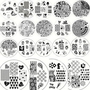 Image Is Loading Nail Art Manicure Stamping Plate Stamp Design