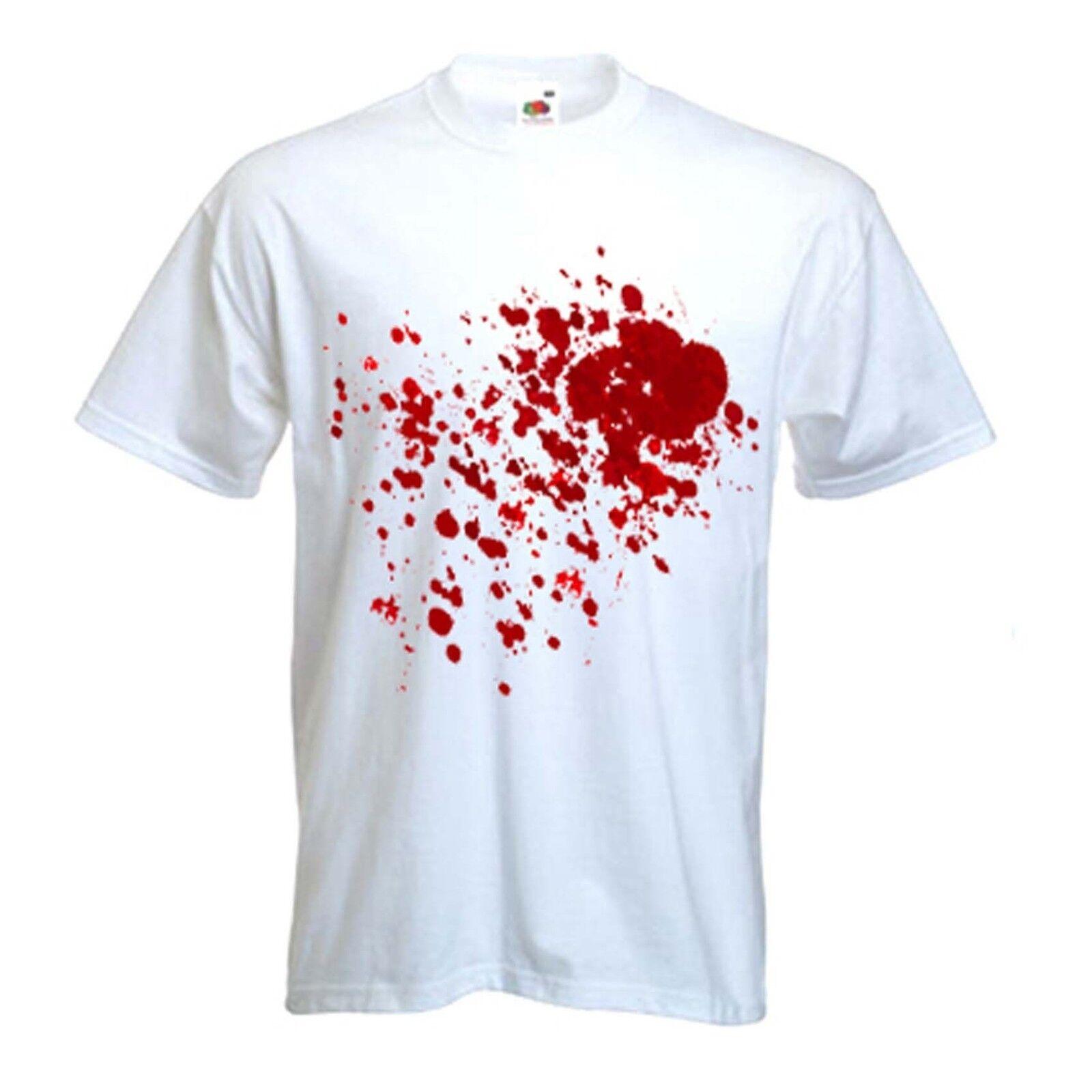 BLOOD SPLATTER MEN'S FANCY DRESS T-SHIRT - Vampire Zombies Dexter Vampires  Men Women Unisex Fashion tshirt Free Shipping