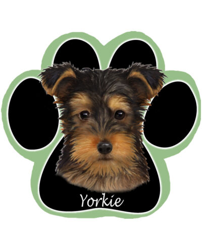 YORKIE Yorkshire Terrier Puppy Cut Dog Paw Shaped Computer MOUSE PAD Mousepad