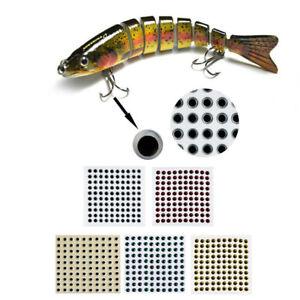 100pcs Fishing Lure Eyes 3D Fish Eyes Fishing Lures Baits Artificial Baits
