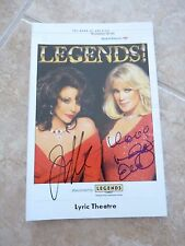 Joan Collins Linda Evans Dynasty LEGENDS Signed Playbill PSA Guaranteed #1